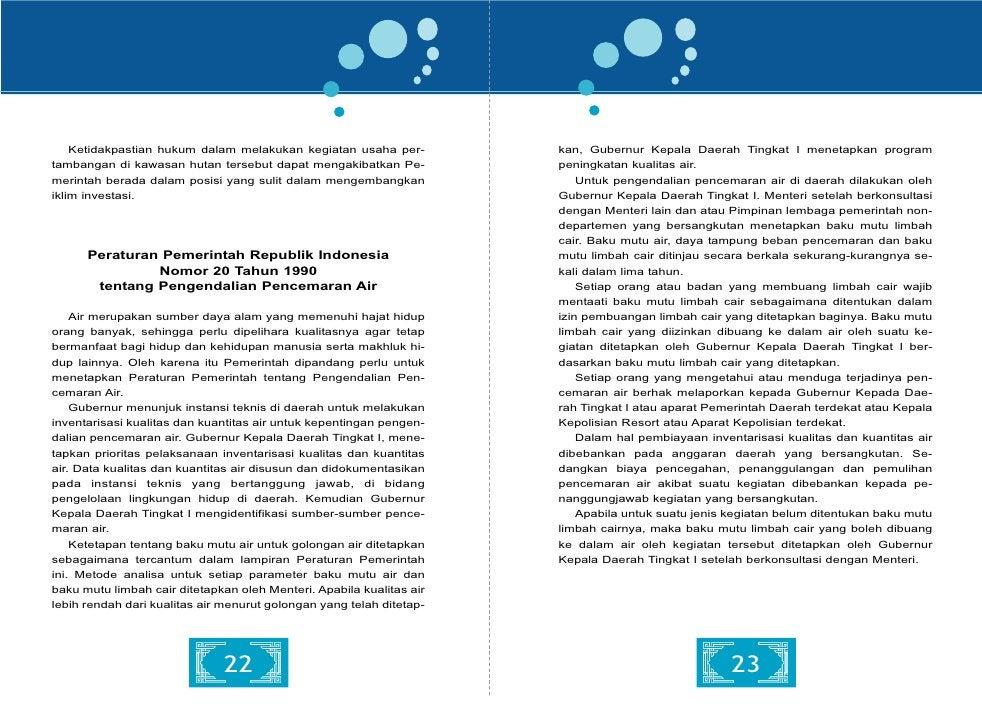 Peraturan Pemerintah Republik Indonesia                      kegiatan pembangunan, eksploitasi dan pemeliharaan sungai, pe...