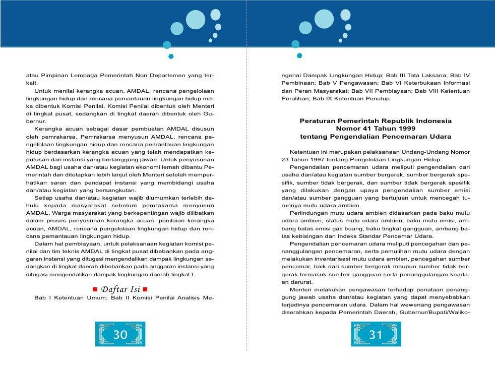 (2)Limbah B3 dari kegiatan yang tercantum dalam Lampiran I,            1997 tentang Pengelolaan Lingkungan Hidup dan Undan...