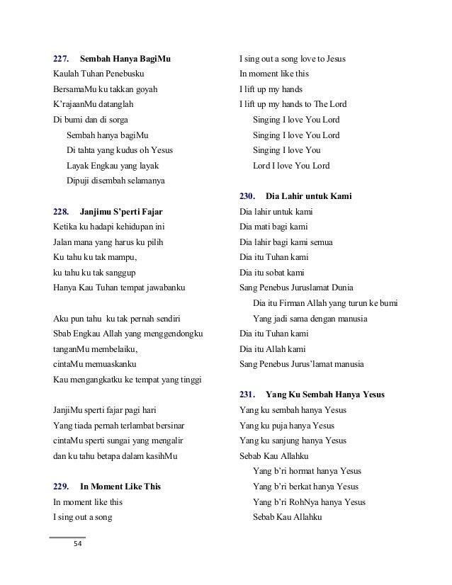 buku lagu