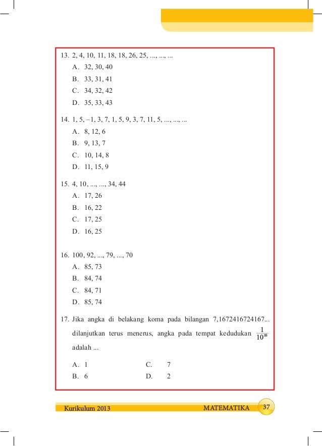 Kunci Jawaban Matematika Kelas 8 Semester 2 Hal 22 Ilmusosial Id