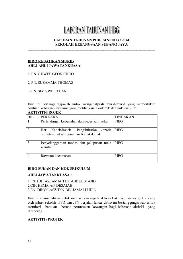 Buku Mesyuarat Agung Pibg Kali Ke33 Tahun 2014