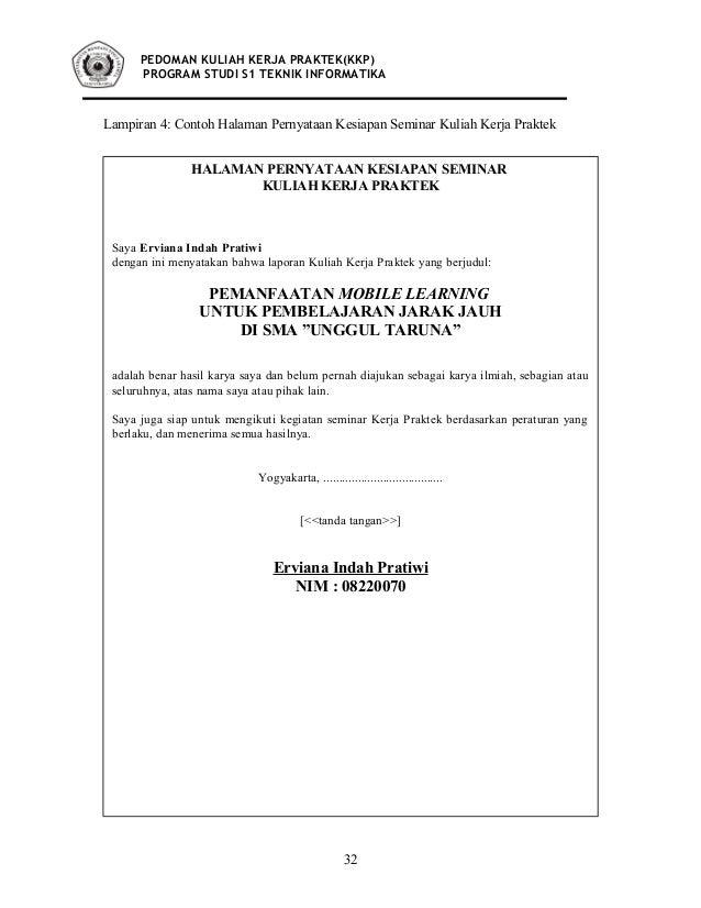 Materi Kuliah Teknik Informatika Ti Kuliah Kerja Praktek Buku