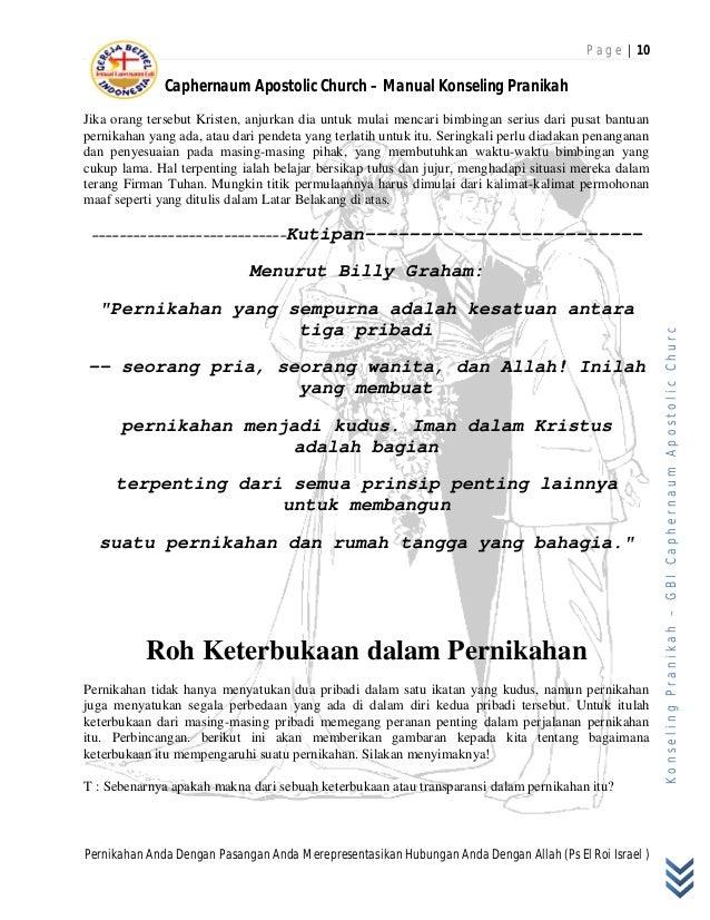 Buku Panduan Konseling Pranikah Gbi Caphernaum Apostolic Church
