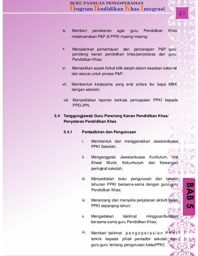 Buku Panduan Pengoperasian PROGRAM PENDIDIKAN KHAS INTEGRASI