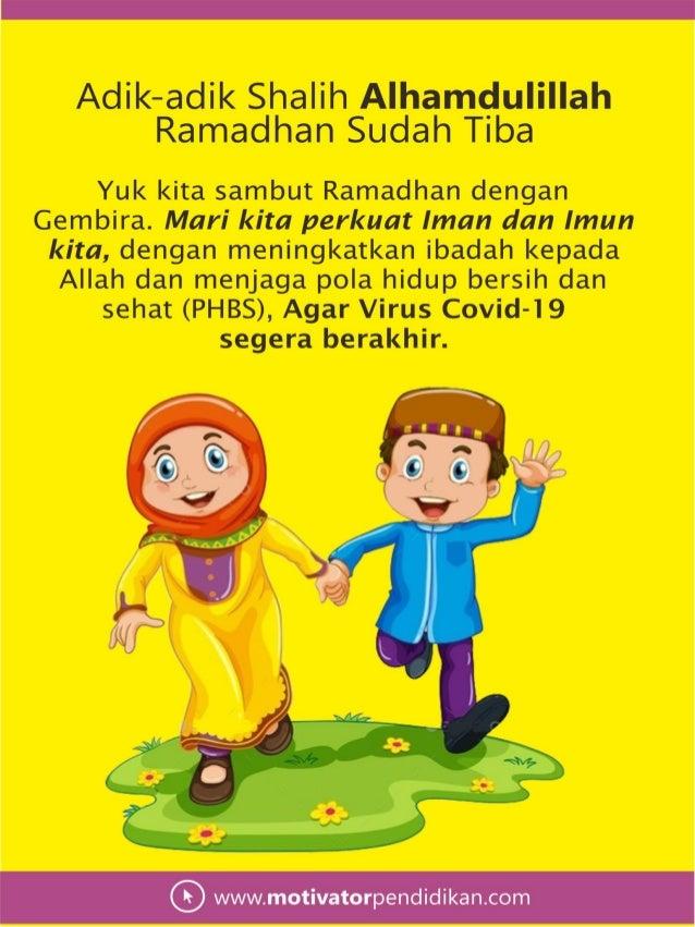 Buku panduan ramadhan anak shalih generasi alpha 2020