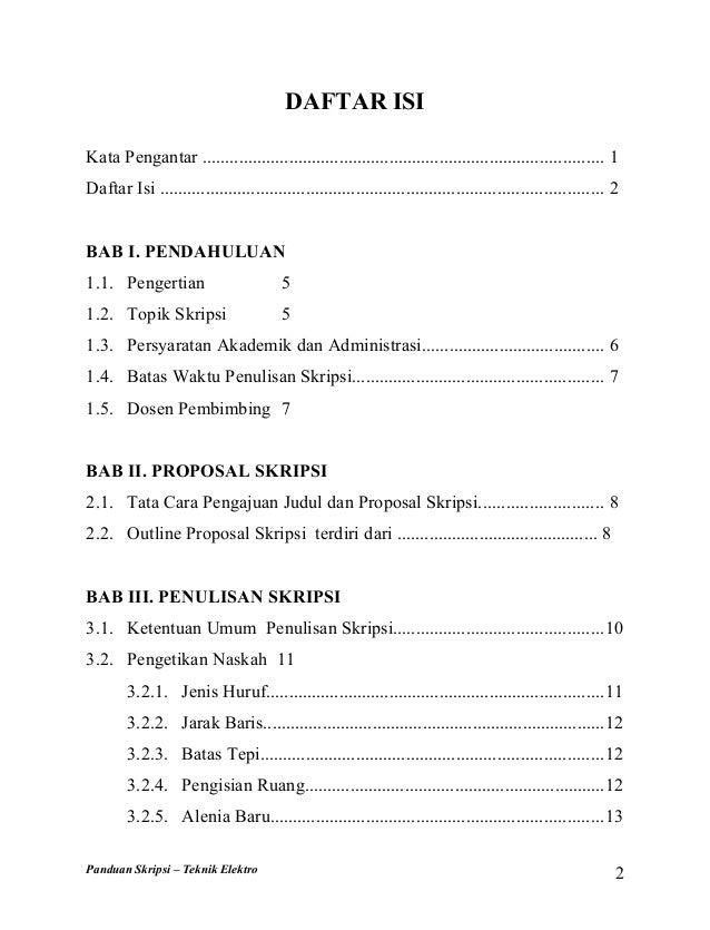 Buku Panduan Skripsi Teknik Elektro