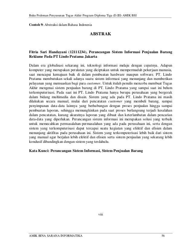 Buku panduan tugas akhir amik bsi 2014