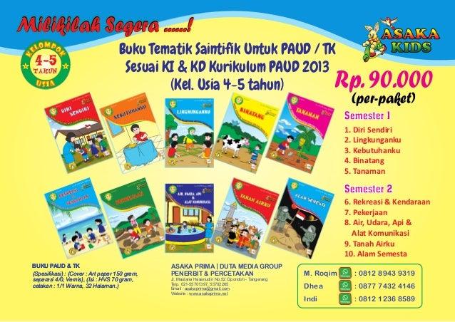 Buku Paud - Majalah TK PlayGroup   Buku Anak Balita BOP PAUD 2017 Slide 2