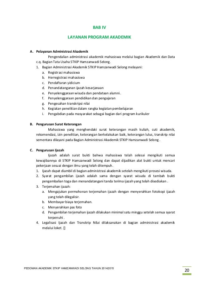 Contoh Surat Pernyataan Cuti Kuliah