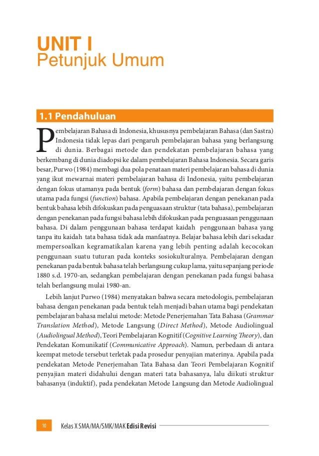 Buku Pegangan Guru Bahasa Indonesia Sma Kelas 10 Kurikulum 2013 Edisi