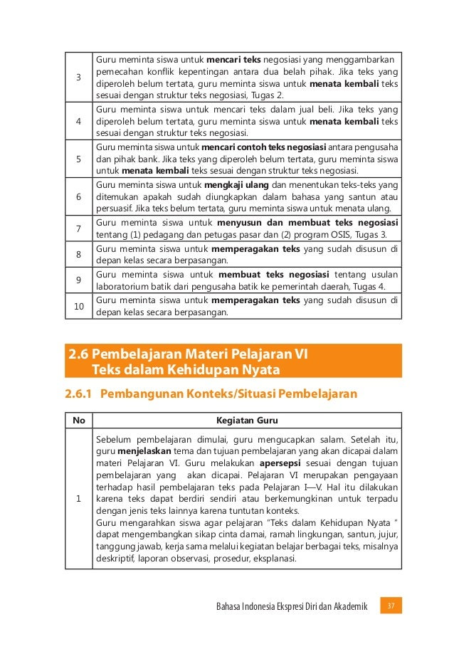 Materi Bahasa Indonesia Kelas 10 Semester 1 Kurikulum 2013 ...