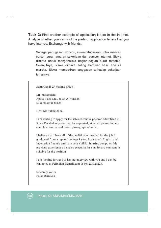 Contoh Application Letter Bahasa Inggris Kelas 12 Kumpulan Soal Pelajaran 6