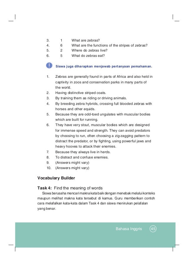 Kunci Jawaban Bahasa Inggris Kelas 12 Kurikulum 2013 Revisi Sekolah