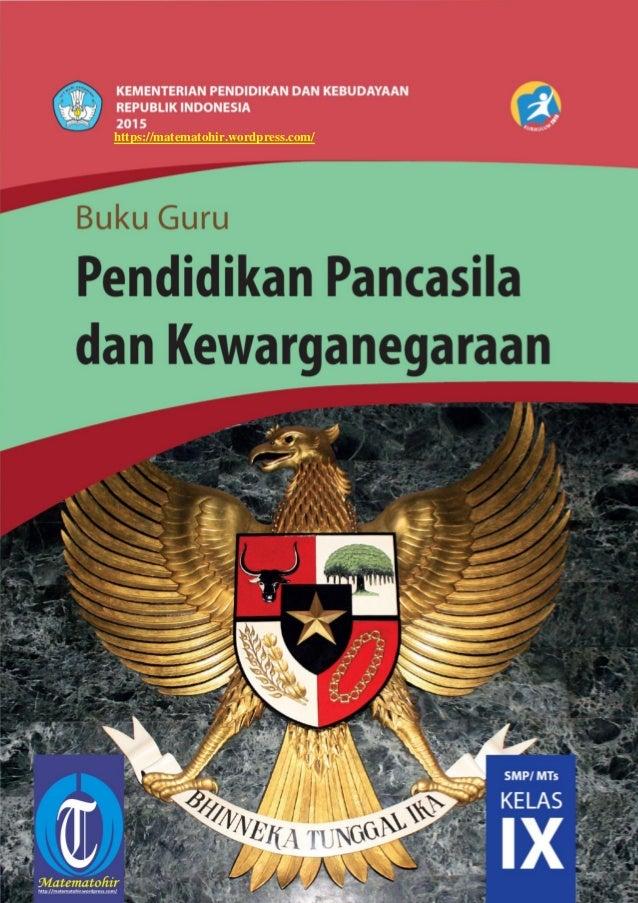 Buku Pegangan Guru Ppkn Smp Kelas 9 Kurikulum 2013