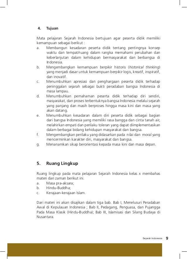 Makalah Sejarah Indonesia Kelas 10 Bab 1 Contoh Makalah