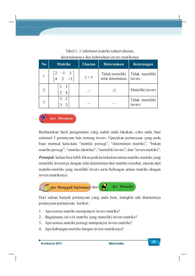 Kelas XII SMA/MA 38 Untuk menjawab pertanyaan-pertanyaan tersebut perhatikan fakta-fakta matematika terkait matriks, opera...