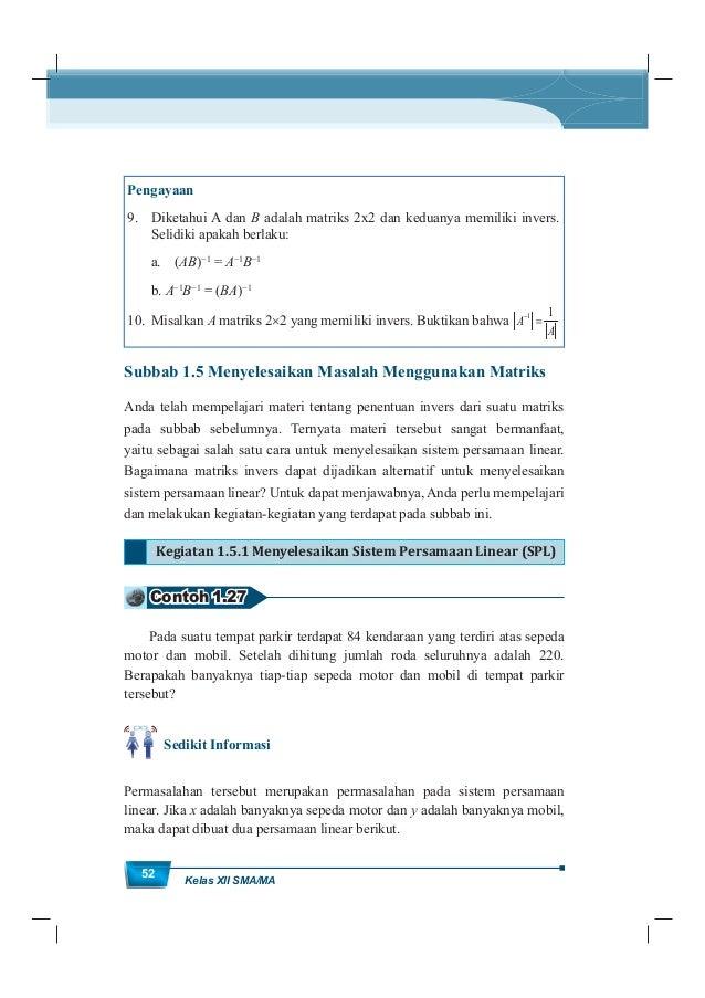MatematikaKurikulum 2013 53 x + y = 84 2x + 4y = 220 Masih ingatkah Anda dengan penyelesaian sistem persamaan linear terse...