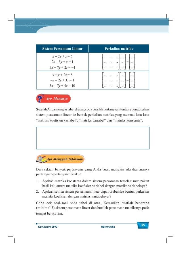 Kelas XII SMA/MA 56 Ayo Menalar Dari Contoh 1.27 dan hasil pengisian tabel di atas, bisakah Anda menjelaskan bagaimana car...