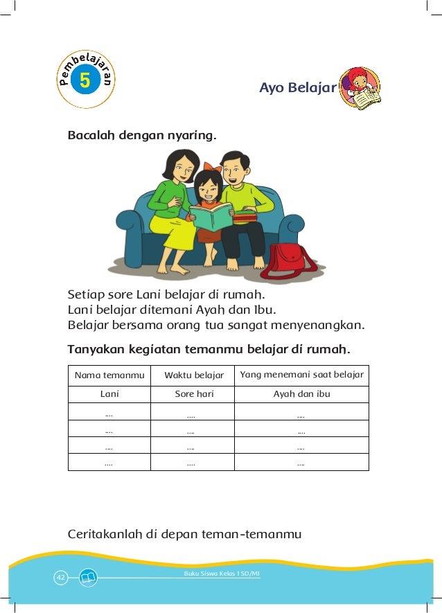 Soal Sd Kelas 1 Tema Keluargaku Tema 4 Keluargaku Kelas 1