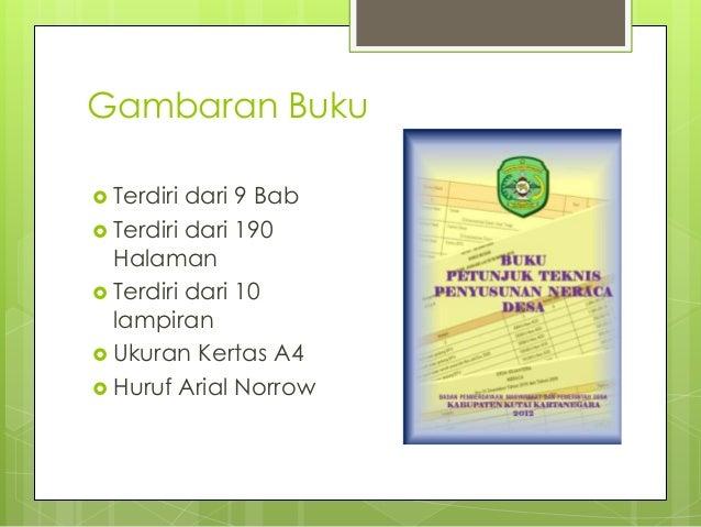 Buku Petunjuk Penyusunan Neraca Desa