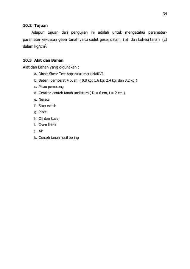 Buku Petunjuk Praktikum Mekanika Tanah