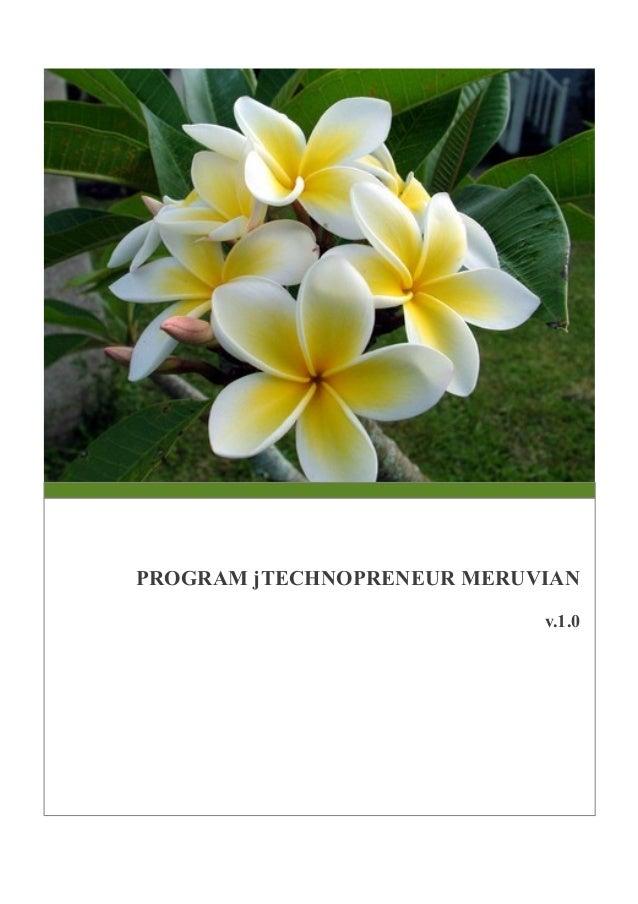 PROGRAM jTECHNOPRENEUR MERUVIAN v.1.0
