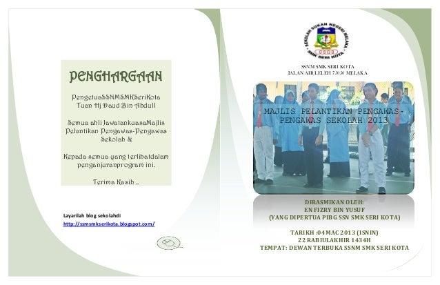 SSNM SMK SERI KOTA  PENGHARGAAN                                JALAN AIR LELEH 75050 MELAKA   PengetuaSSNMSMKSeriKota    T...