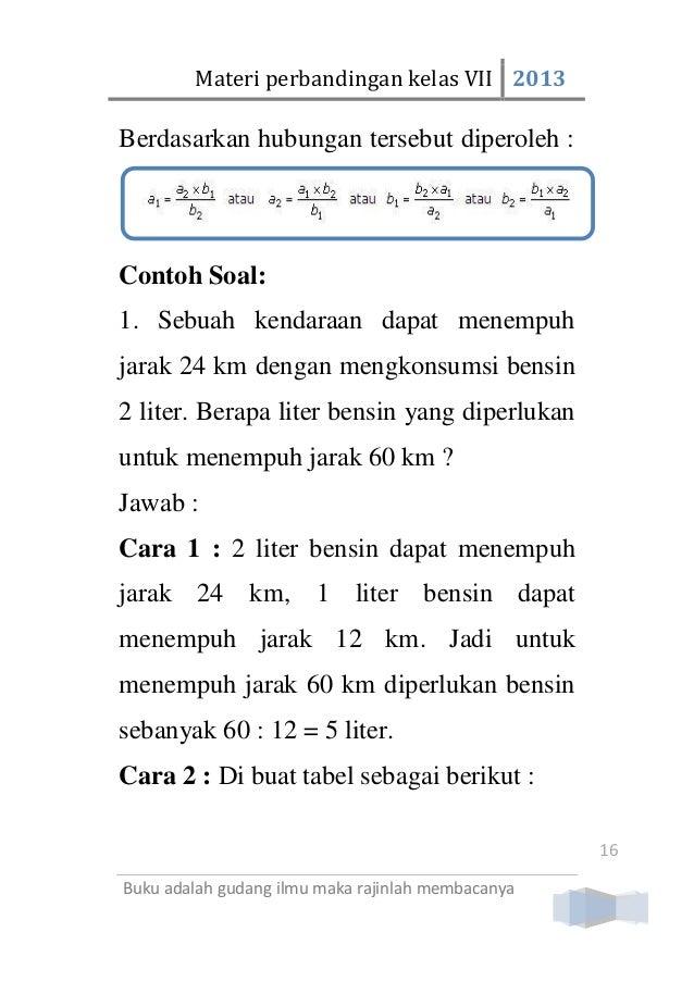 Materi Perbandingan Kelas 7 Smp Mts