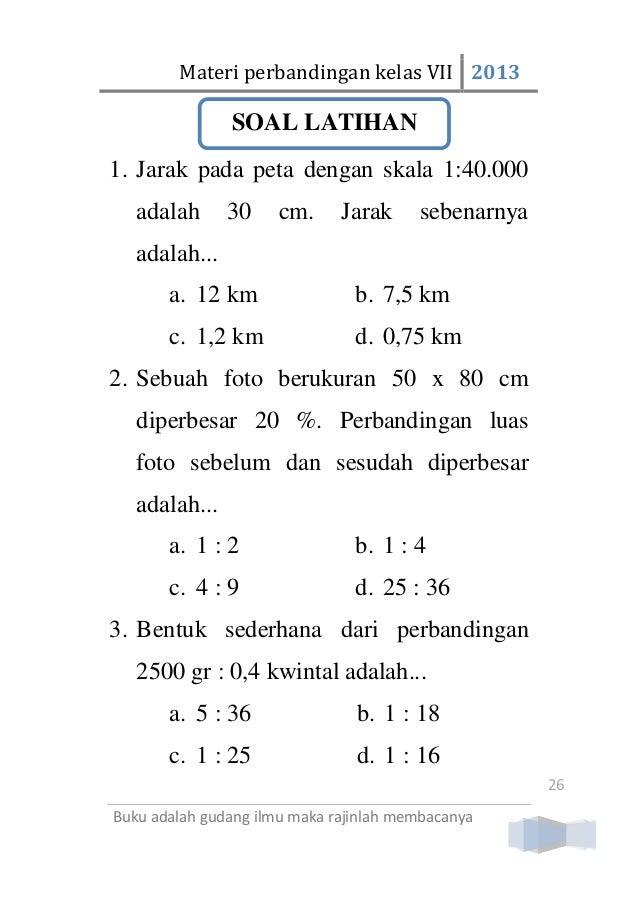 Materi Perbandingan Kelas 7 SMP/Mts