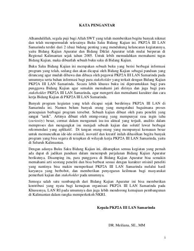 Buku Saku Bidang Kajian Aparatur Slide 2