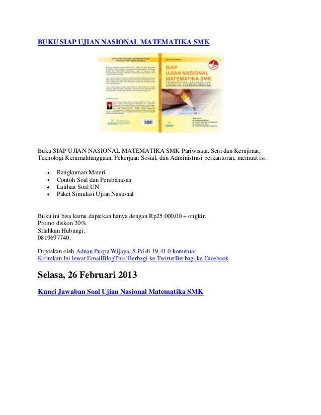 Buku Siap Ujian Nasional Matematika Smk