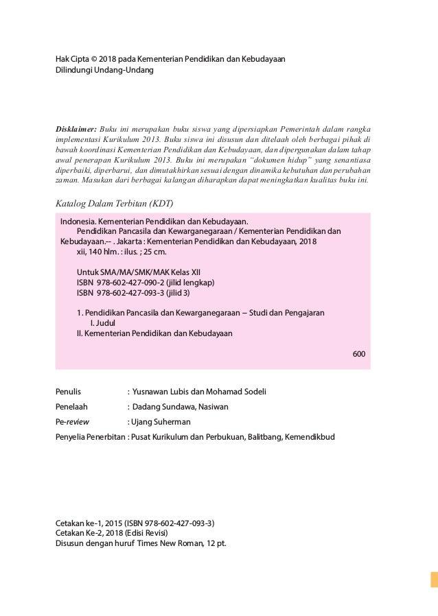 Buku Siswa Ppkn Kelas Xii Edisi Revisi 2018