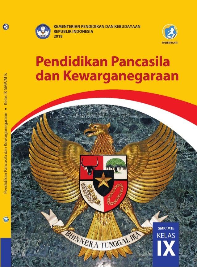 Buku Siswa Smp Ppkn Kelas Ix Edisi Revisi 2018