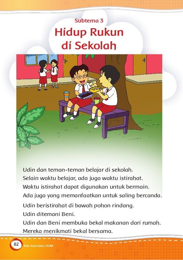 Buku Siswa Kelas 2 Sd Tema 1 Hidup Rukun Kemendikbud Kurikulum 2013