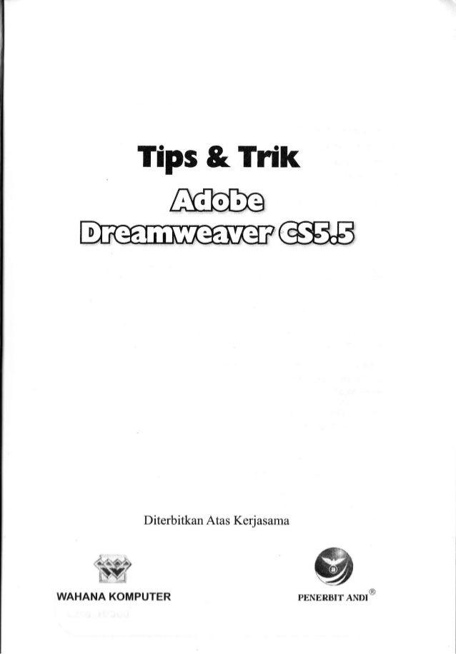 Buku tips & trik adobe dreamweaver cs5.5 2012_roki