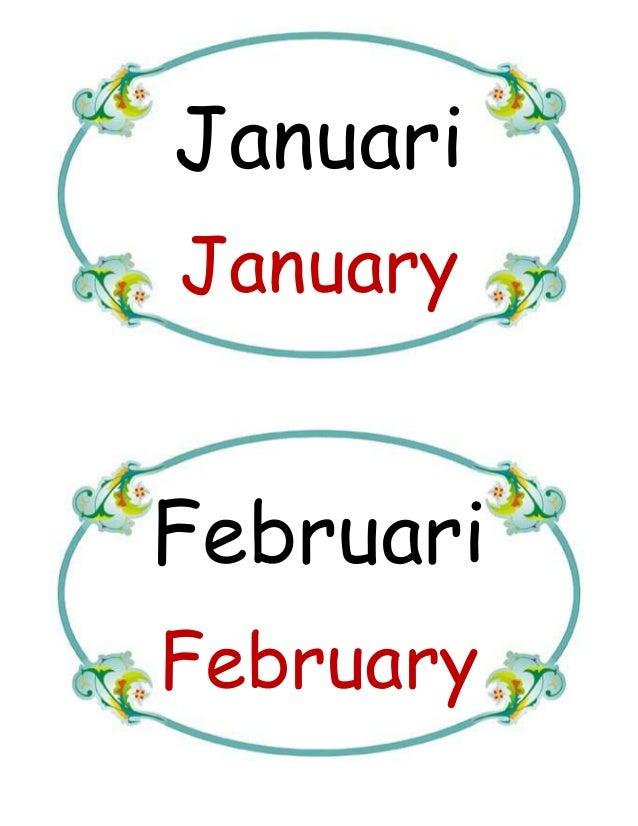 Bulan Dalam Setahun Hari Dlm Seminggu