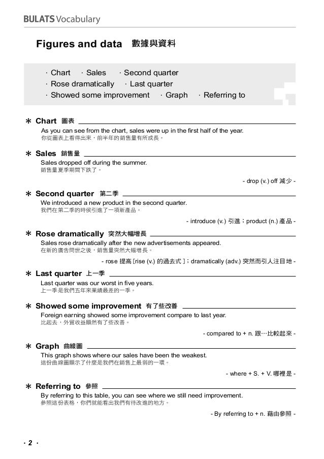 Bulats vocabulary list Slide 2