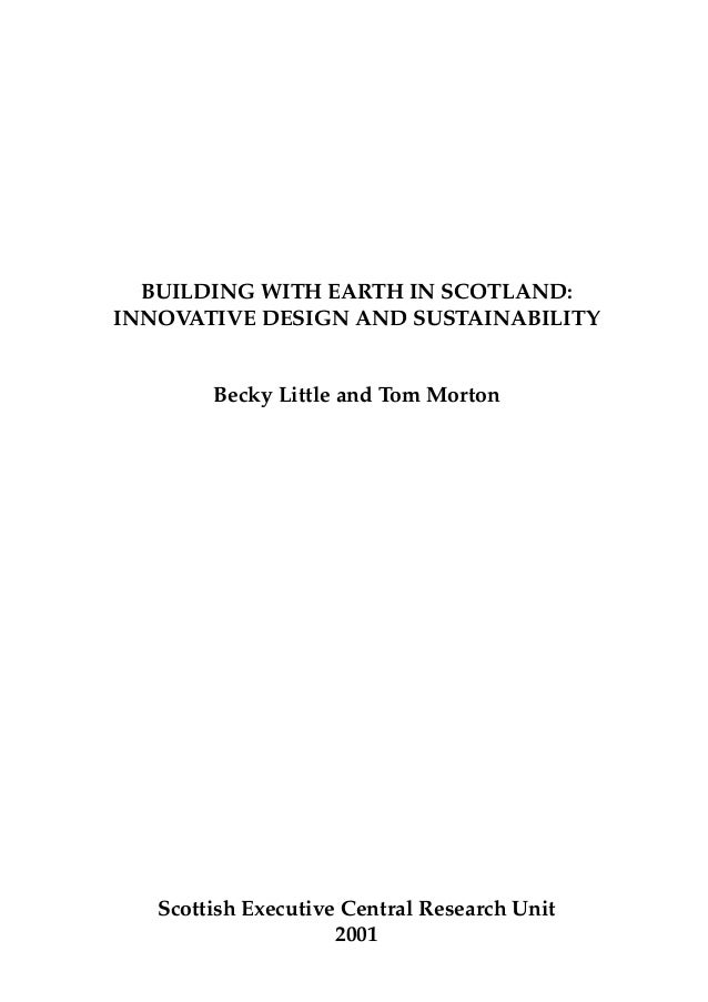 Bulding with earth in scotland