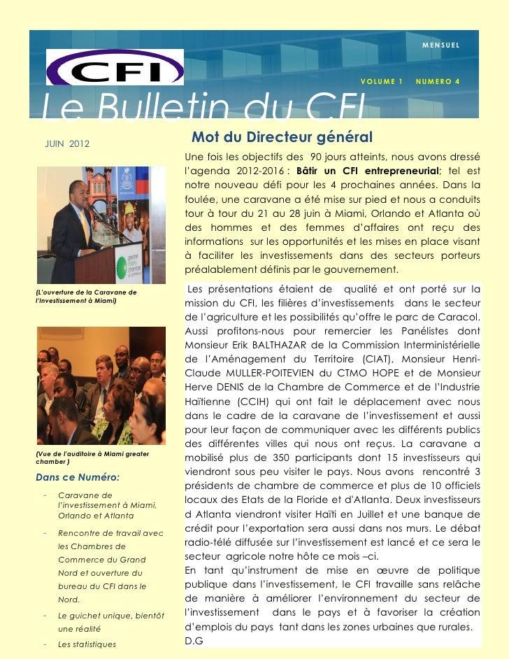 MENSUEL                                                                            VOLUME 1    NU M E R O 4 Le Bulletin du...