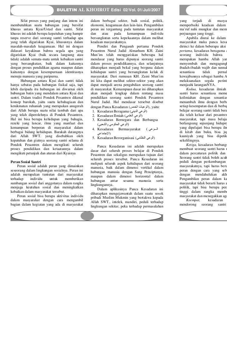 BULETIN AL KHOIROT Edisi 02/Vol. 01/Juli/2007                                                                 BULETIN AL K...