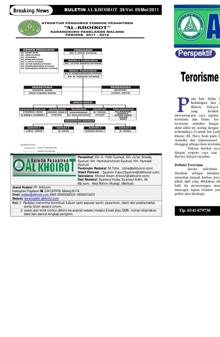 Breaking News                       BULETIN AL KHOIROT 39/Vol. 05/Mei/2011                                                ...