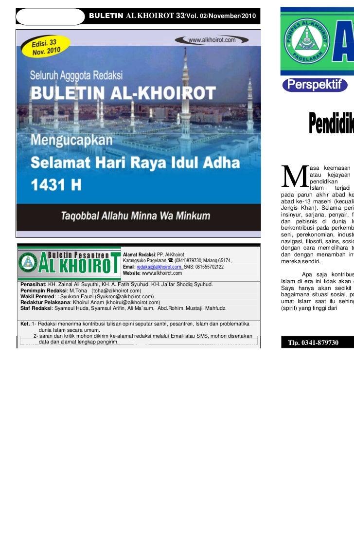BULETIN AL KHOIROT 33/Vol. 02/November/2010                                                           BULETIN AL KHOIROT 3...