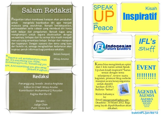 Redaksi Penanggung  Jawab:  Jessica  Angkasa Editor  in  Chief:  Missy  Aruma Kontributor:  Muhammad  Q...