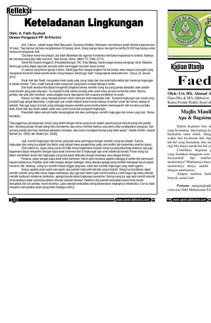 Buletin SANTRI Edisi 33, Vol 10, Februari 2011              Buletin SANTRI Edisi 33, Vol 10, Februari 2011Oleh: A. Fatih S...