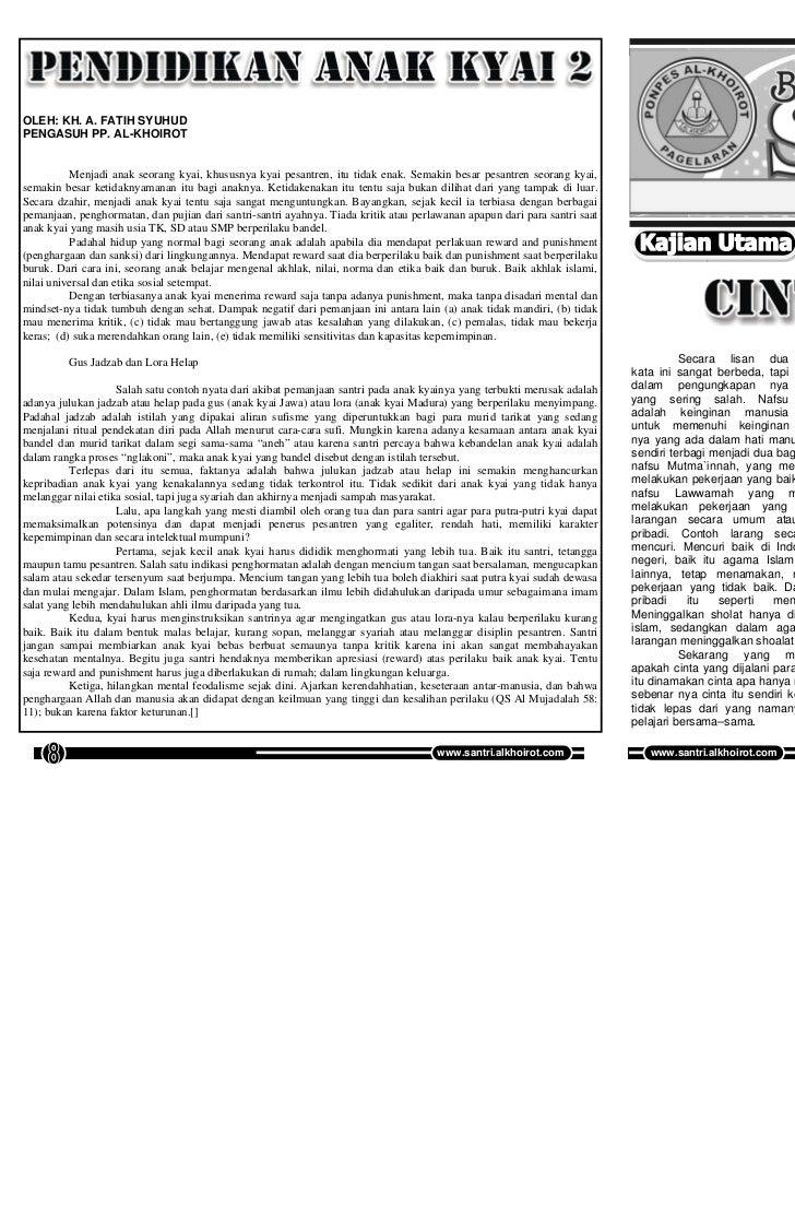 Buletin SANTRI Edisi 37, Vol 04, Juni 2011               Buletin SANTRI Edisi 37, Vol 04, Juni 2011OLEH: KH. A. FATIH SYUH...