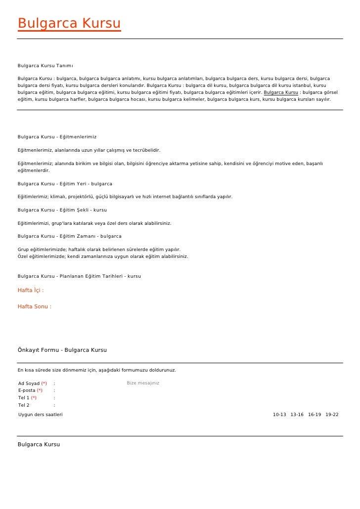 Bulgarca KursuBulgarca Kursu TanımıBulgarca Kursu : bulgarca, bulgarca bulgarca anlatımı, kursu bulgarca anlatımları, bulg...