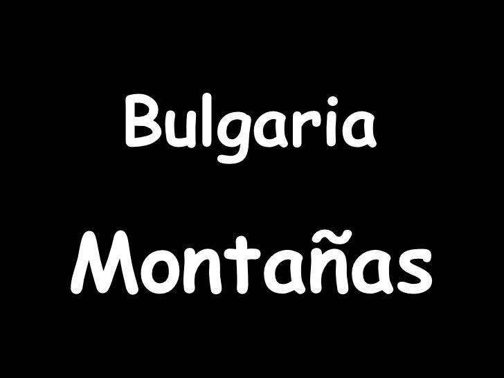 Bulgaria Montañas