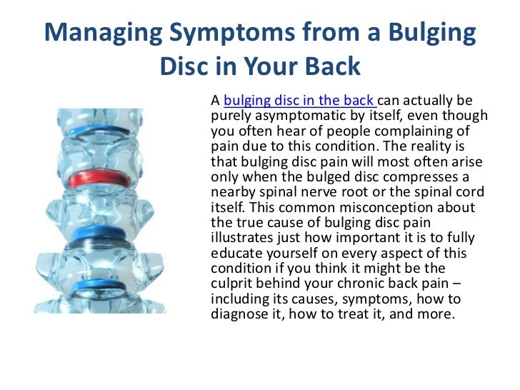 how to fix bulging disc in back