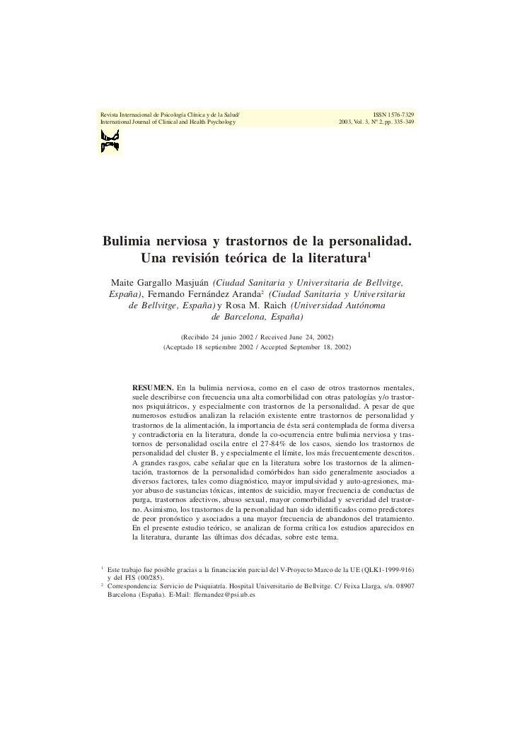 Revista Internacional de Psicología Clínica y de la Salud/                                        ISSN 1576-7329 Internati...