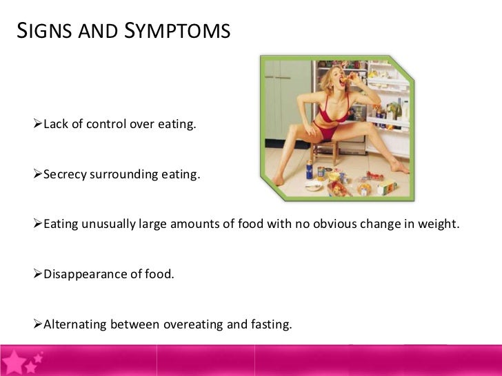 the cause symptoms and treatment of bulimia Bulimia nervosa is a potentially life-threatening eating disorder read about the symptoms and treatment options.